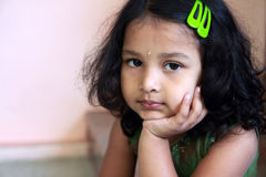 Cute Indian Girl Stock Photography