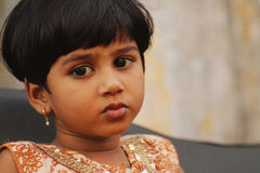 Cute indian girl. Indian girl during the christian ceremony Royalty Free Stock Photography