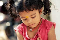 Cute Indian little girl Stock Images