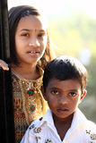 Cute Indian little girl & boy Royalty Free Stock Photos