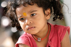 Cute Indian little girl portrait Royalty Free Stock Images