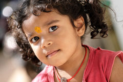Cute Indian little girl portrait Stock Images