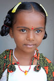 Cute Indian Village Girl. Portrait Of Cute Indian Village Girl royalty free stock images