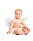 Cute infant angel Stock Photos
