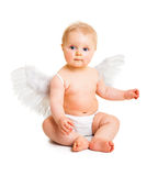 Cute infant angel Stock Photo