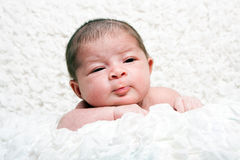 Cute infant face Stock Photo