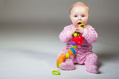 Cute infant girl Royalty Free Stock Image