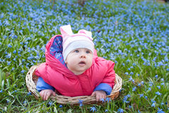 Cute infant girl Stock Images