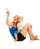 Cute infant girl with mother Stock Photography