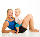 Cute infant girl with mother Royalty Free Stock Photo