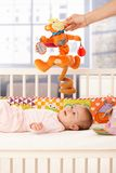 Cute infant playing Royalty Free Stock Photo