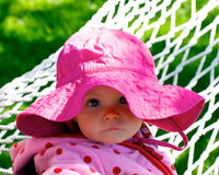 Cute Infant's Glaring Look Stock Image