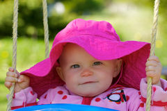 Cute Infant's Happy Look Stock Photo