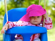 Cute Infant's Happy Look Royalty Free Stock Image
