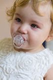 Cute infant with tear Royalty Free Stock Photography