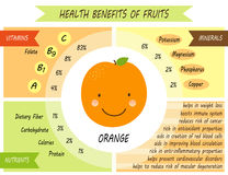 Cute infographic page of Health Benefits of fruits. Like vitamins, minerals, nutrients Royalty Free Stock Photo
