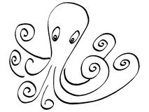 Cute ink octopus Royalty Free Stock Photography