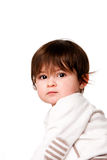 Cute innocent baby toddler face Royalty Free Stock Photography