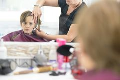 Kid at Barbershop Royalty Free Stock Photo