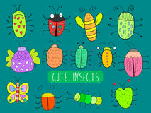 Cute insects Stock Photos