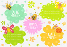 Cute insects Royalty Free Stock Image