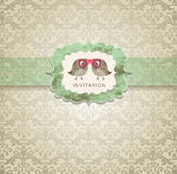 Cute invitation card Royalty Free Stock Photos