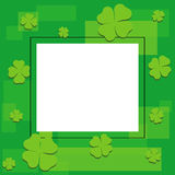 Cute invitation card with clover leaves vector Stock Images