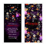Cute invitation for kids Halloween party. Royalty Free Stock Photos