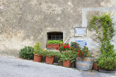 Cute italian street, Tuscany Stock Images