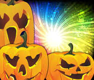 Cute Jack O lanterns Royalty Free Stock Images