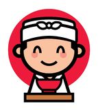 Cute Japanese chef character royalty free stock photos