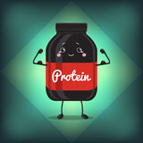 Cute Jar Sport Nutrition, Protein, Gainer, Black, Royalty Free Stock Photo