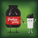 Cute Jar Sport Nutrition and Shaker. Stock Photography