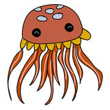 Cute jellyfish cartoon Royalty Free Stock Photo
