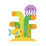 Cute jellyfish sealife icon. Vector illustration design royalty free illustration