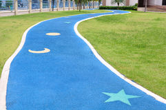 Cute jogging lane Stock Photography