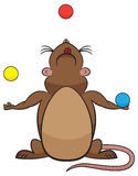 Cute Juggling Rodent Royalty Free Stock Photos