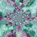 Cute kaleidoscope design background in teal and violet. Kaleidoscope design background in teal and violet Stock Images