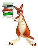Cute Kangaroo cartoon character  with book Stock Images