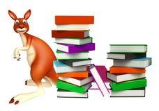 Cute Kangaroo cartoon character  with book Stock Image