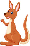 Cute kangaroo cartoon Stock Image