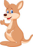 Cute kangaroo cartoon waving hand Stock Photography