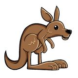 Cute kangaroo Royalty Free Stock Image