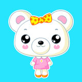 Cute kawaii bear toy Royalty Free Stock Photography