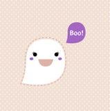 Cute Kawaii Ghost. Kawaii Halloween Ghost. Vector Illustration Stock Photography
