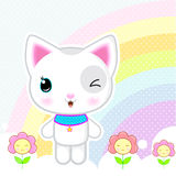Cute kawaii kitty Stock Images