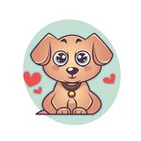 Cute and kawaii labrador puppy, dog symbol of new year. Cute and kawaii little  baby labrador puppy, dog symbol of new year Stock Photography
