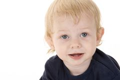 Cute Kid 3. A cute one-year old boy on a white background Stock Image