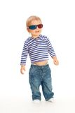 Cute kid in 3d glasses Royalty Free Stock Photos