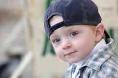 Cute kid with baseball cap Royalty Free Stock Photo